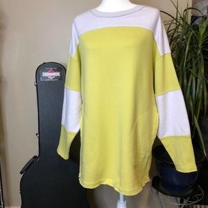 Free People Citron Combo Jordan Relaxed Pullover S